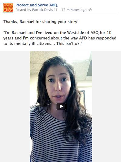 Rachael Maestas' Facebook Post